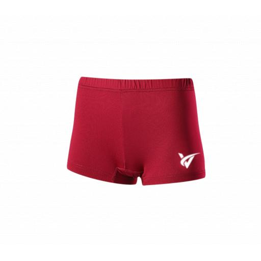 Womens Netball Undershorts - Red